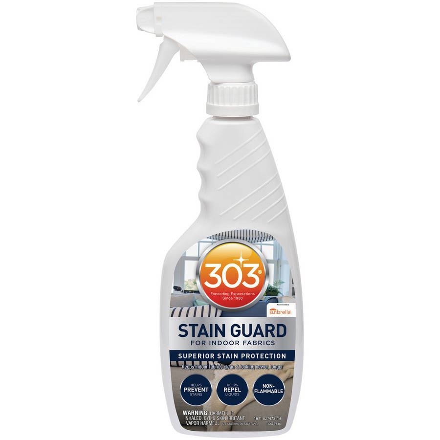 303 (30675) Indoor Fabric Protector and Stain Guard for Home Interior Fabrics, Cushions, Upholstery and Carpets, 16 fl. oz.