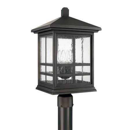 Capital Lighting Preston 4 Light Post Lantern, Old Bronze, Antique - 9915OB Copper Bronze Outdoor Post Light