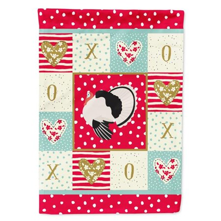 Carolines Treasures CK5415CHF 28 x 0.01 x 40 in. Royal Palm Turkey Love Flag Canvas House Size - image 1 de 1