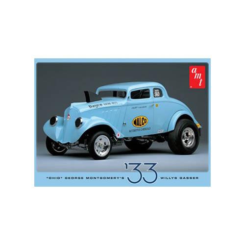 1/25 '33 Willys Gasser, Ohio George Multi-Colored