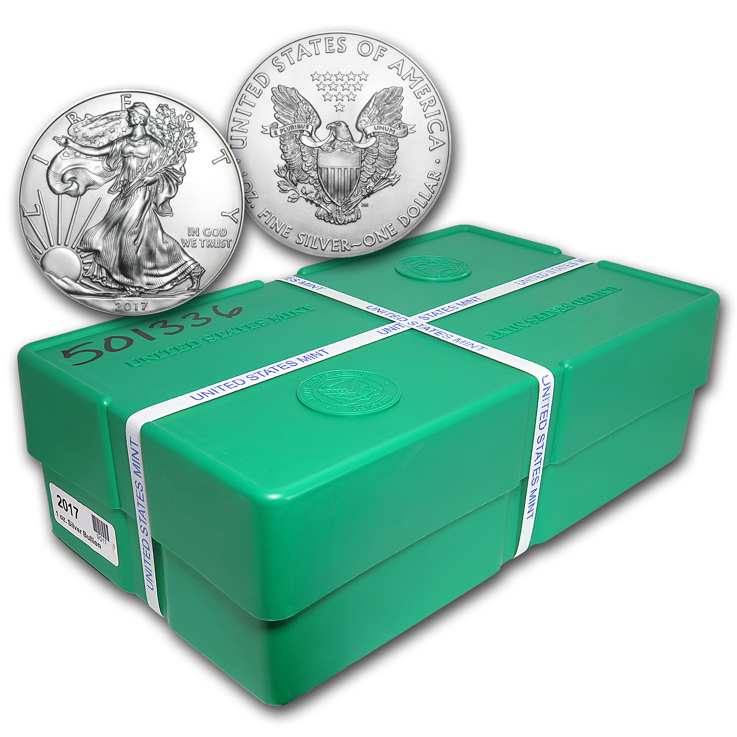 2017 (S) 500-Coin Silver American Eagle Monster Box