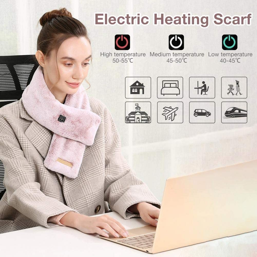 USB Rechargeable Washable Winter Warm Soft Bib Shawl for M Electric Heated Scarf Blanket Christmas Gifts for Women