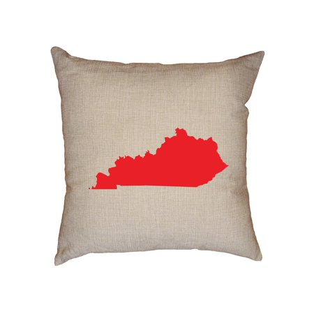 Kentucky Red Republican - Election Silhouette Decorative Linen Throw Cushion Pillow Case with Insert ()