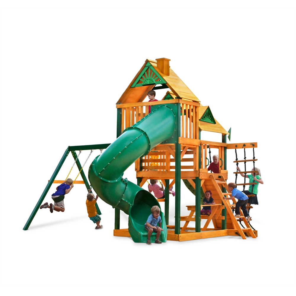 Gorilla Playsets Great Skye I Cedar Swing Set with Timber Shield Posts by Overstock