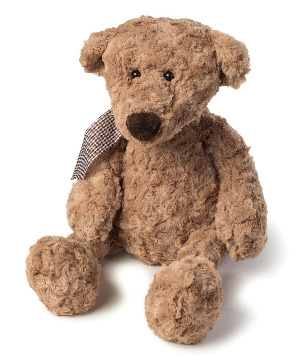 Joon Charles Rosy Plush Teddy Bear, Light Brown, 10-Inches by Joon