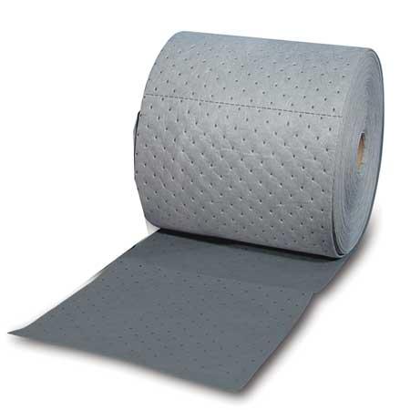 BRADY SPC ABSORBENTS Absorbent Roll,Universal,Gray,300 ft.L HT153