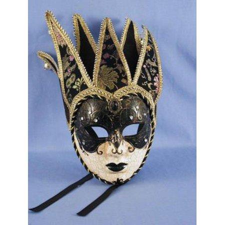 Dark Princess Mardi Gras Adult Costume Mask - Madi Gras Costume