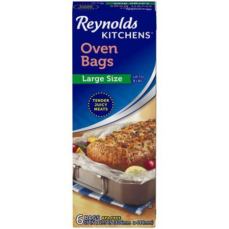 Reynolds Kitchens Large Size Oven Bags, 16x17.5 Inch, 6 ...