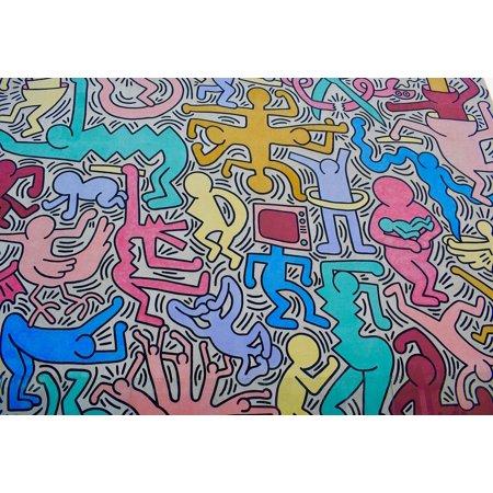 LAMINATED POSTER Wall Graffiti Color Art Murals Keith Haring Poster Print 24 x 36