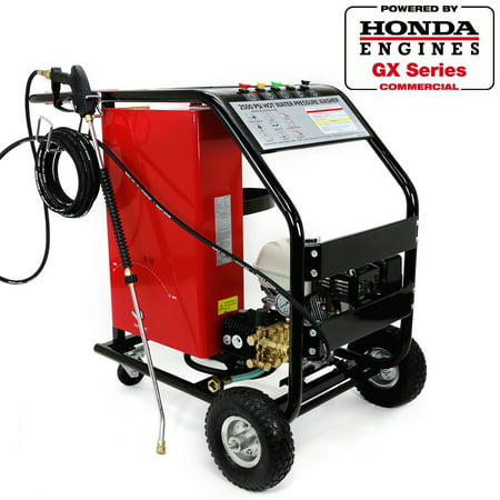 Stark Commercial 3,000 PSI 2.6 GPM High Pressure Washer Gas Powered GX200 EPA Motor Hot Cold Water Pressure (Industrial Hot Water Power Washer)