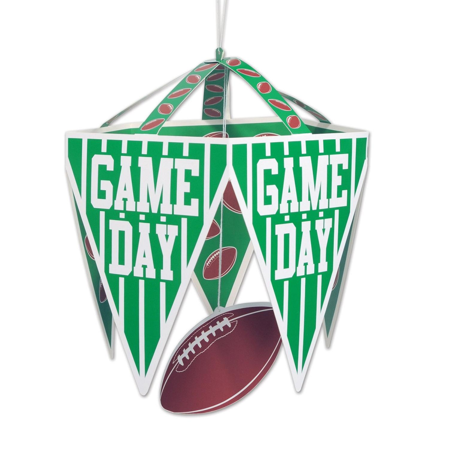 """Club Pack of 12 """"Game Day"""" Football Pennant Chandelier Decorations 17.5"""""""