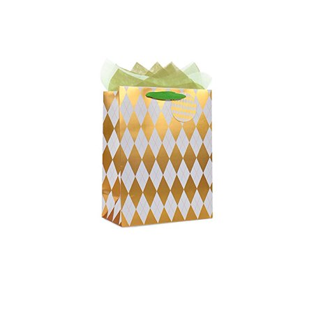 The Wrap it. Metallic Premium Party Favor Bag Paper Gift Bag with...