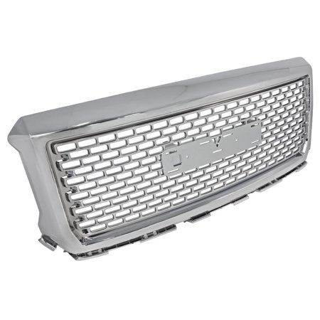 Spec-D Tuning For 2014-2015 Gmc Sierra 1500 1500Hd Denali Abs Grille Front Hood Grill Chrome 2014
