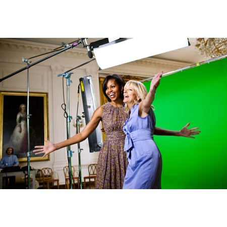 Michelle Obama And Jill Biden Joke While Taping A Joining Forces Public Service Announcement At The White House Joining Forces Is Their Initiative To Enlist Support For Military Families April 4 2011