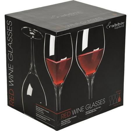 rabbit red wine glasses set of 4. Black Bedroom Furniture Sets. Home Design Ideas
