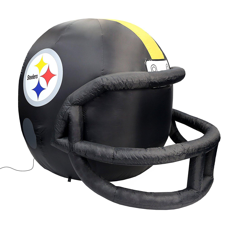 NFL Pittsburgh Steelers Team Inflatable Lawn Helmet, Black, One Size