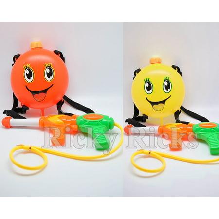Water Gun Backpack Squirt Pool Toy Soaker Pressure Pump Spray Super Kids Blaster (Plastic Water Gun)