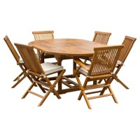 Chic Teak Miami Teak 7 Piece Patio Dining Set