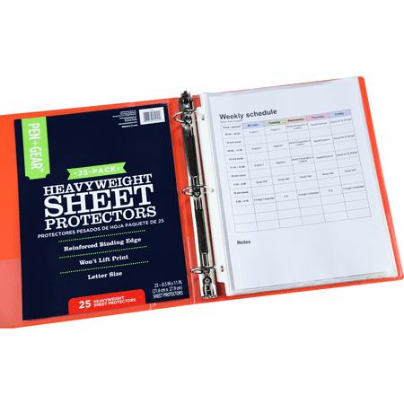Pen + Gear Heavy-Weight Sheet Protectors (8.5 x 11