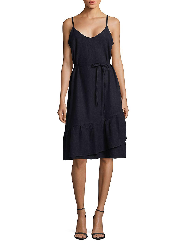 Self-Tie Wrap-Skirt Dress