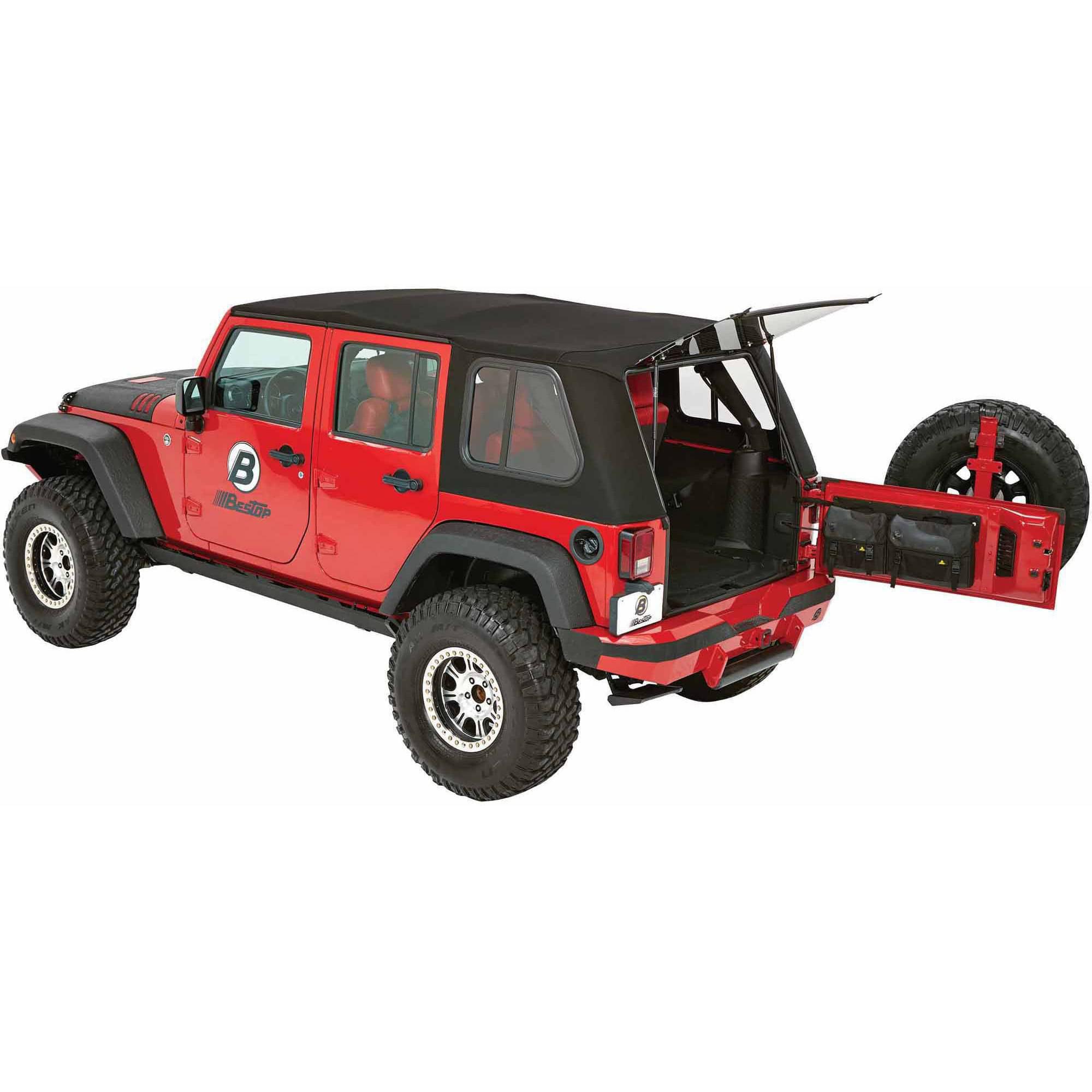 BESTOP 54853-17 Wrangler Unlimited Sliding Side Panels, G...