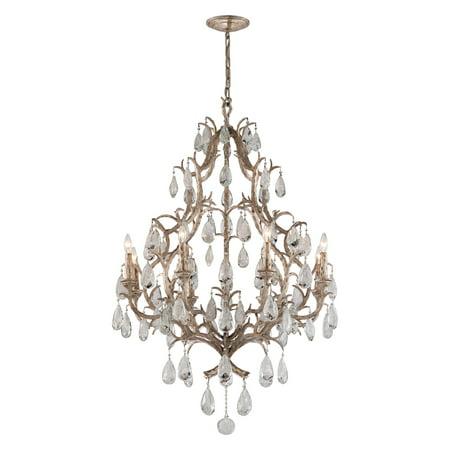 (Eight Light Vienna Bronze Up Chandelier)