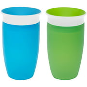 Munchkin Miracle 360 10oz Sippy Cup, BPA-Free, 2-Pack, Green/Blue