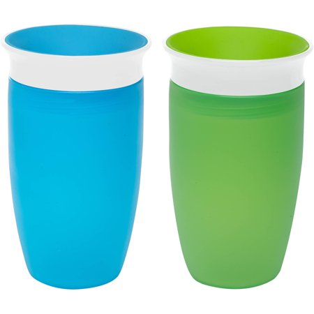 Munchkin Miracle 360 Spoutless Sippy Cup - 2 pack (Best Sippy Cup For 14 Month Old)