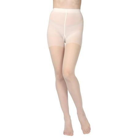 MeMoi Essentials Control Top Satin Sheer Pantyhose | MeMoi Tights X Large / Panna