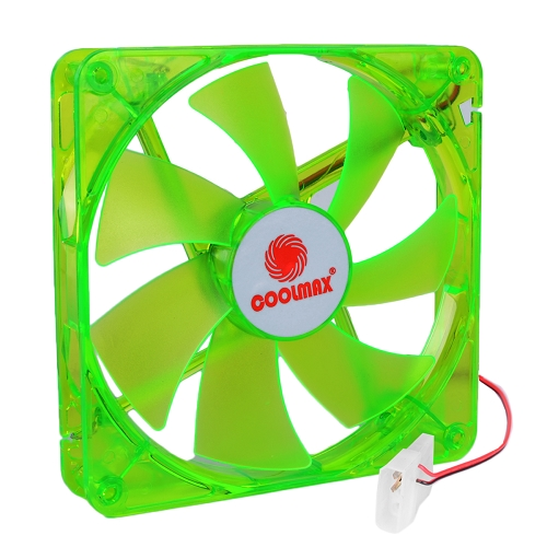 "Coolmax CMF-825 3"" x 3"" 80mm UV Reactive 4 LED Case Fan w/4-Pin Connector-Green"