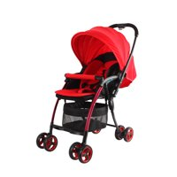 Wonderbuggy Nano Ultralight One Hand Fold Aluminum Compact Stroller With Reversible Handle - Red