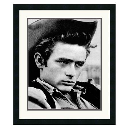 James Dean - Cowboy Framed Wall Art - 22W x 26H in.