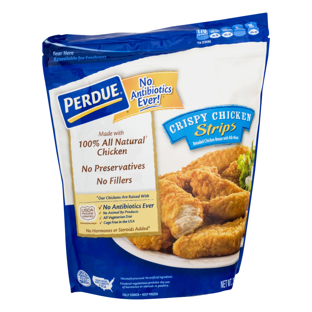 Perdue Fully Cooked Frozen Crispy Breaded En T Strips 26 Oz