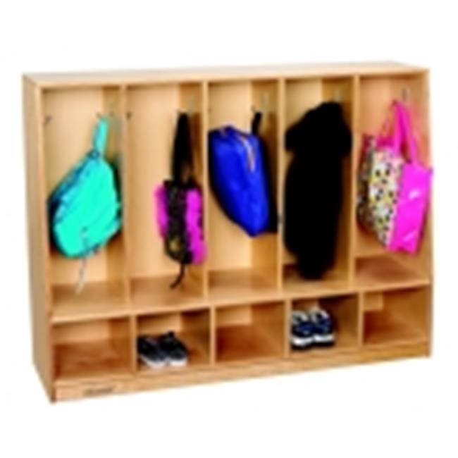 Childcraft Toddler 5-Section Bench Coat Locker by Childcraft