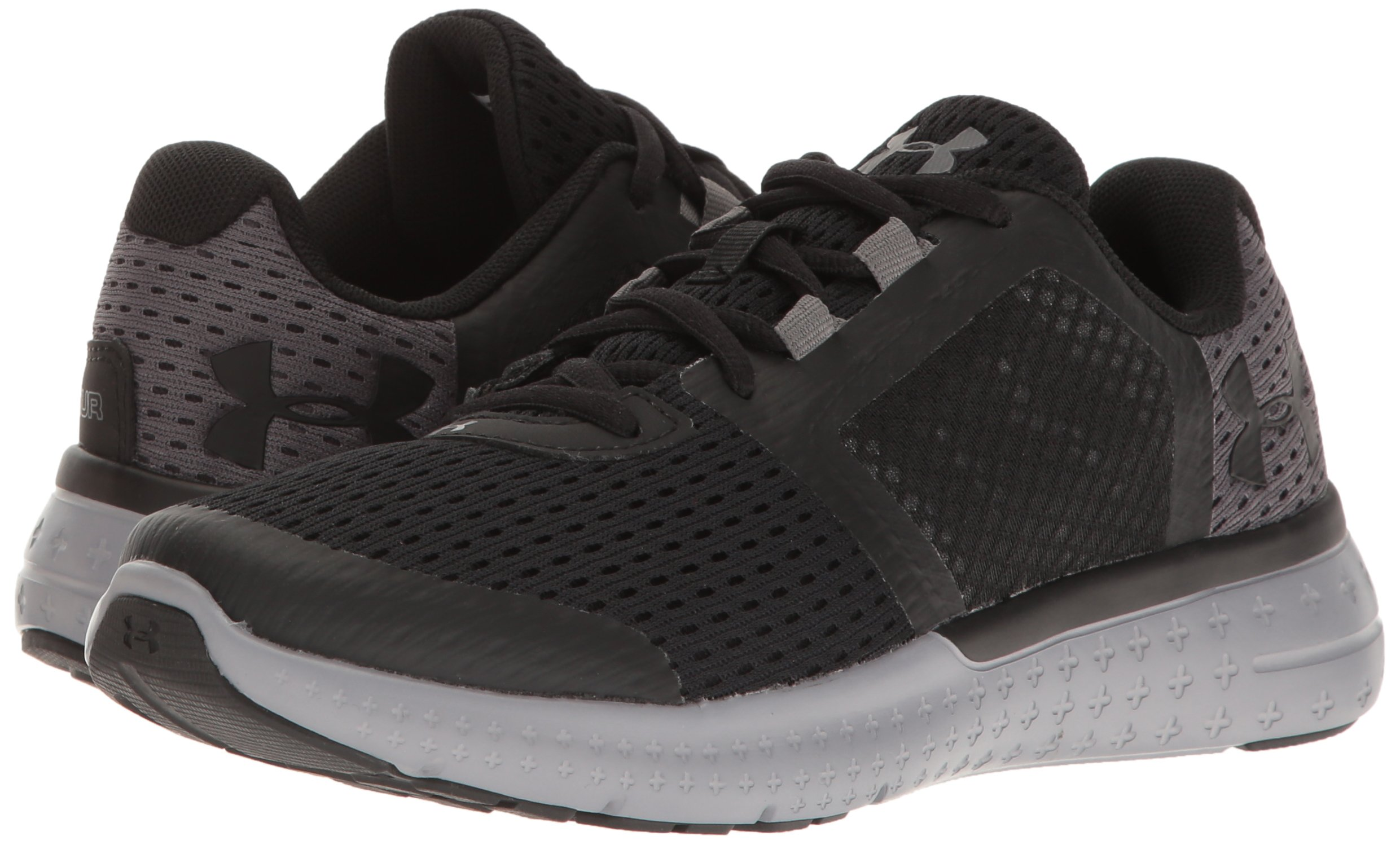 cheap for discount 777c3 33f34 Under Armour Boys UA BGS Micro G Fuel RN, Black /Steel/Black , 4.5