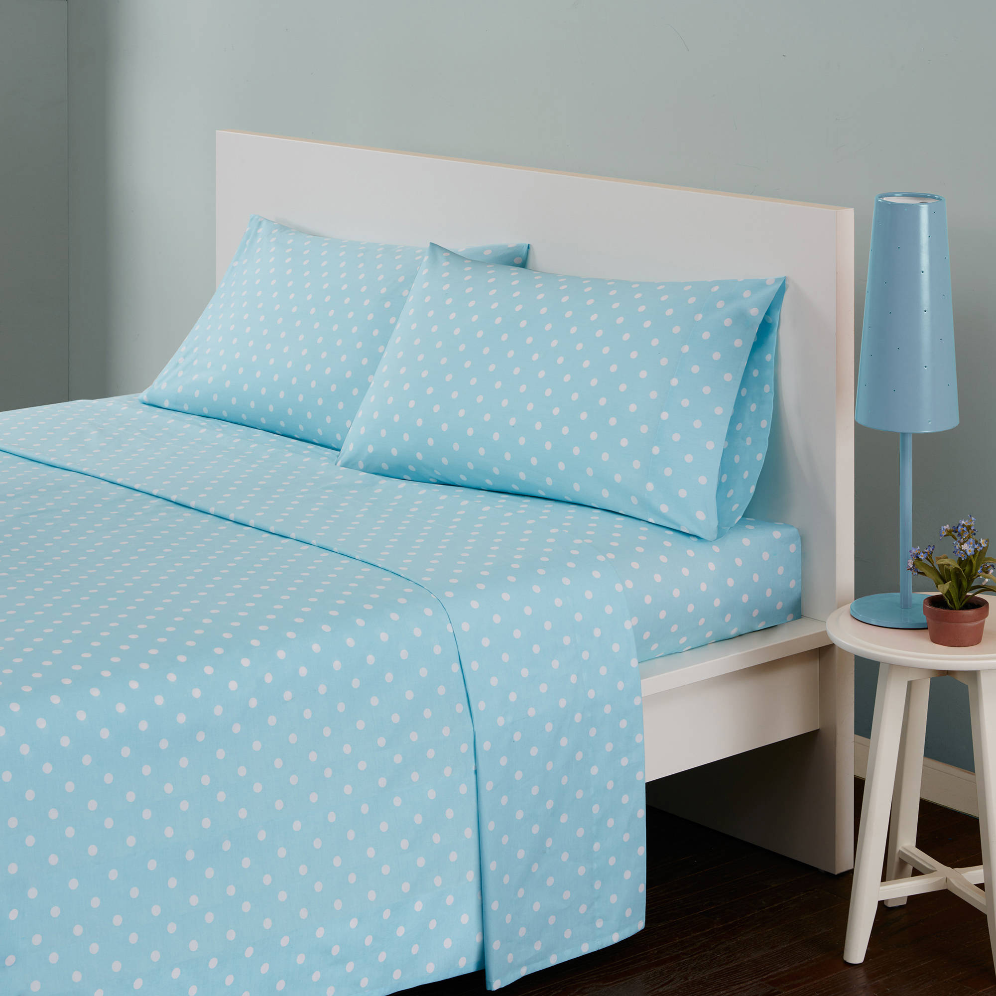 Home Essence Apartment Polka Dot Cotton Sheet Set