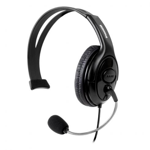 Dreamgear Wired Headset With Microphone For Xbox 360 - Mono - Black - Wired - Over-the-head - Monaural - Ear-cup - 4 Ft Cable - Noise Cancelling Microphone (dg-dg360-1721)