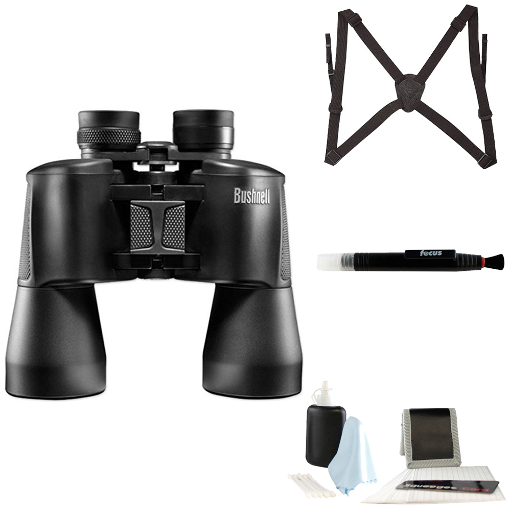 Bushnell 16x50 Powerview Binocular with Harness and Cleaning Kit