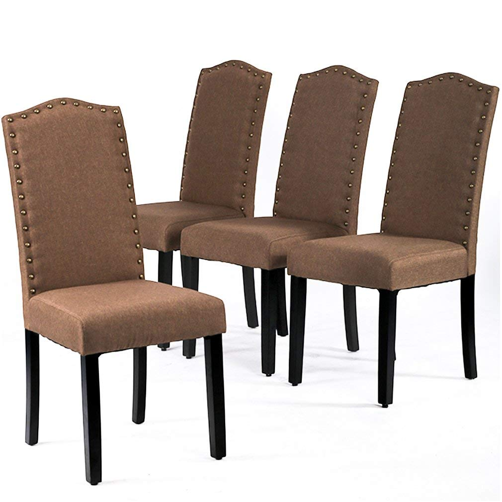 Dining Chairs Armless Kitchen Room Chair Accent Solid Wood Modern Style For Living Home Furniture (set of 4)