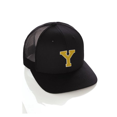 Team Sports Custom Initial Letter Y Trucker Hat Adjustable Snapback Baseball Cap (Cheap Custom Hats)