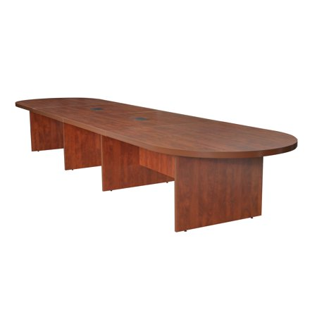 """Legacy 192"""" Modular Racetrack Conference Table with 2 Power Data Grommets- Cherry"""