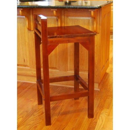 24 seat height solid mahogany wood low back barstool counter stool. Black Bedroom Furniture Sets. Home Design Ideas