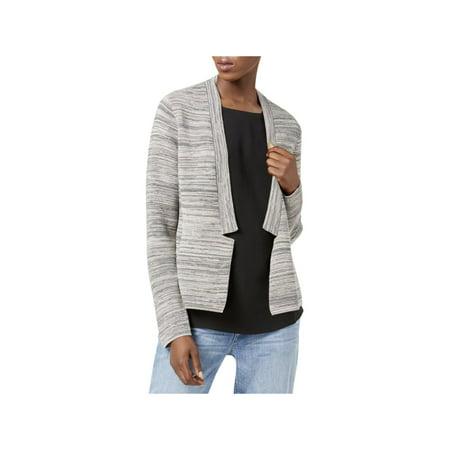 Eileen Fisher Womens Tencel Blend Notch Collar Cardigan Sweater