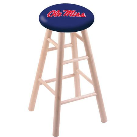 - Ole Miss Stool w/ Oak Swivel Base - 30