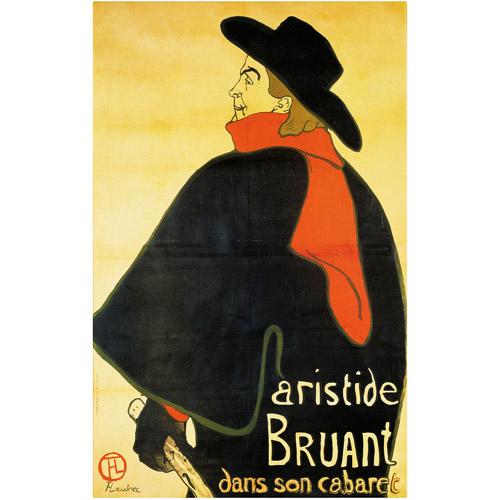 """Trademark Fine Art """"Aristide Bruant"""" Canvas Art by Henri de Toulouse-Lautrec"""