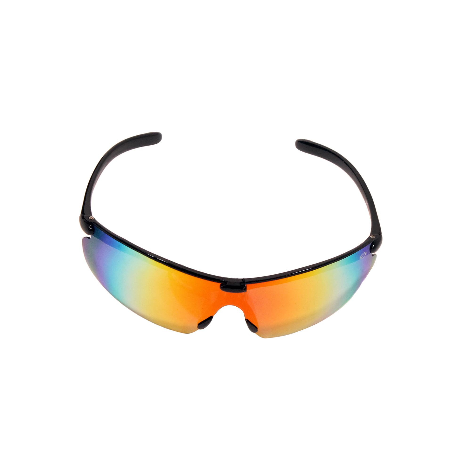 Strike King Lures SK PLus Waffle Sunglasses Matte Black Frame, Multi Layer Red Mirror Gray Base Lens by Strike King Lures