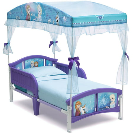 Delta Children Disney Frozen Plastic Toddler Canopy Bed, Purple