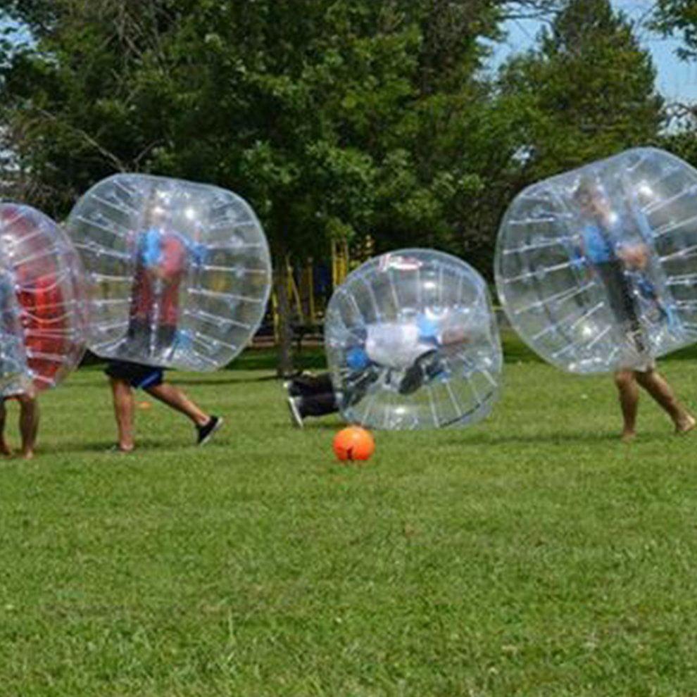 Human Knocker Bubble Soccer Football Transparent PVC Inflatable Bumper Ball by LESHP