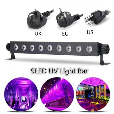 UV 27W LED Black Light Bar Stage Lamp Wall Wash Lighting Bar Spot Light Blacklight DJ Disco Party Club Home Decor US Plug](Black Ligjt)