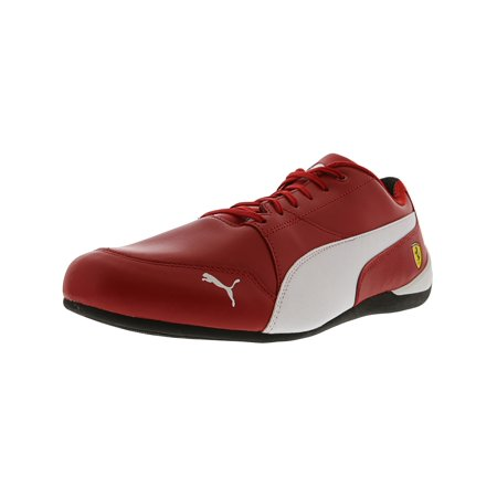 de9e6154d34 PUMA - Puma Men s Ferrari Drift Cat 7 Rosso Corsa   White Black Ankle-High  Leather Fashion Sneaker - 8M - Walmart.com
